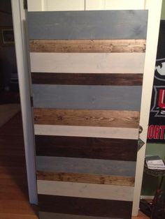 Want to update a wall but not have it be permanent? Try making wall planking sections that you can hang on your wall. Loft Furniture, Planking, Hippie Life, Repurposed, Restoration, Dresser, London, Wall, Projects
