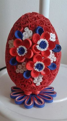 Red, White, Blue dark egg