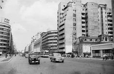 Magheru in 1956 Paris, Bucharest Romania, Socialism, Old City, Eastern Europe, Time Travel, Old Town, Street View, Memories