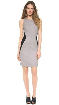 Gareth Pugh Платье-футляр с кожаными вставками
