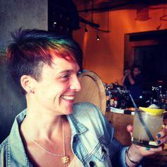 short shaved rainbow hair