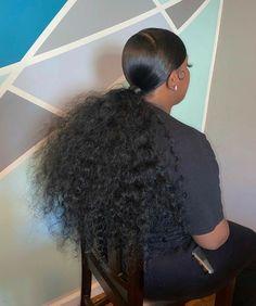 Hair Ponytail Styles, Black Girl Braided Hairstyles, Sleek Ponytail, Baddie Hairstyles, Weave Hairstyles, Curly Hair Styles, Hairstyle Short, Celebrity Hairstyles, Headband Hairstyles
