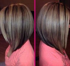 Highlighted Long Bob Hair