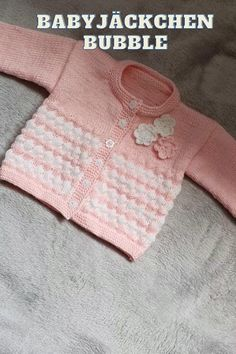Baby Knitting Patterns, Baby Cardigan Knitting Pattern Free, Baby Boy Knitting, Hand Knitting, Bubble, Knitted Baby Clothes, Knitting Videos, Baby Wearing, Knitwear