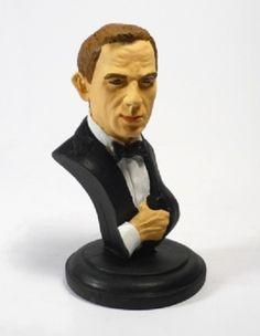 BUSTO DANIEL CRAIG Bondcollection ofrece este busto de recina de Daniel Craig como James Bond en Quantum of Solace