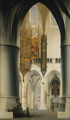 Pieter Jansz. Saenredam Interior of the Church of St Bavo in Haarlem 1636 Oil on panel 95,5 x 57 cm