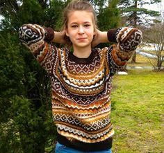 Fair Isle sweater Women's sweater Natural wool sweater