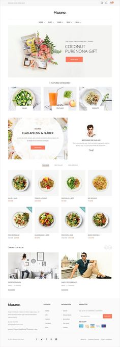 Mazano is a modern, clean and professional #onlineshop #WordPress WooCommerce #theme for stunning eCommerce website with 15+ multipurpose homepage layouts download now➩ https://themeforest.net/item/mazano-trendy-responsive-wordpress-theme/16815190?ref=Datasata