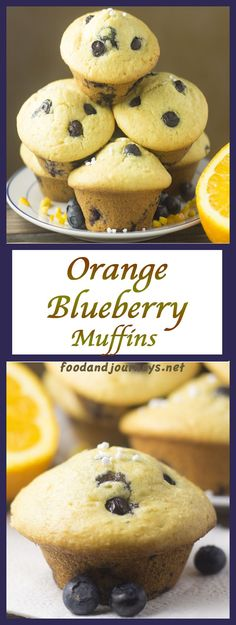 Orange Blueberry Muffins | Food and Journeys