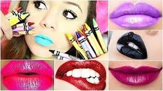 Crayon lipstick!! This would be so cool to try out. This is going to be a summer thing I will try!