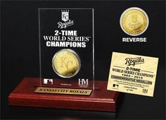 Kansas City Royals World Series Champions Gold Coin Etched Acrylic (HM) 9aeea80dd