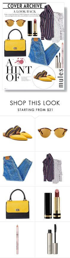 """""""Slip 'Em On: Mules"""" by bonolon on Polyvore featuring Ray-Ban, Levi's, Monse, Gucci, Ilia and mules"""
