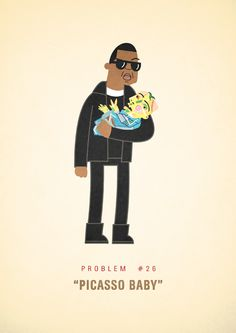 Artist Ali Graham recently created this daily illustration series focusing on Jay-Z's 99 problems. Graham is about halfway through after completing the illustration for Jay's problem. Jay Z Lyrics, Magna Carta, Hip Hop Quotes, 99 Problems, Favorite Words, Sound Of Music, Limited Edition Prints, Picasso, Illustration Art