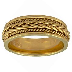 Shop for Yellow Gold Hand Braided Design Comfort Fit Women's Wedding Bands. Get free delivery On EVERYTHING* Overstock - Your Online Jewelry Destination! Gold Ring Designs, Gold Bangles Design, Wedding Jewelry, Wedding Rings, Elegant Couple, Braid Designs, Gold Models, Womens Wedding Bands, 14k Gold Ring