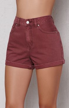 Red Rock Cuffed Denim Mom Shorts