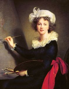 Not young Marie Antoinette, but the artist who so often portrayed her, Elisabeth Vigee Le Brun, a self-portrait. Galerie Des Offices, Female Painters, Art Antique, Elisabeth, Painted Ladies, Ap Art, Art Uk, Woman Painting, Artist Painting