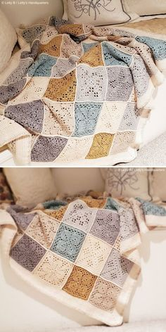 Nature's Walk CAL Ideas – Crochetpedia – Knitting Blanket 2020 Mode Crochet, Crochet Home, Crochet Crafts, Crochet Projects, Crochet Quilt, Crochet Motif, Crochet Designs, Knit Crochet, Crochet Stitches