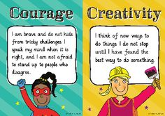 Character Strengths Posters – Set of 24 Positive Psychology, Challenge Me, Board Ideas, Grade 1, Stand Up, Something To Do, Leadership, Strength, Mindfulness