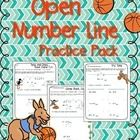 This is a pack of 23 worksheets that introduce students to using open number lines as a strategy for adding and subtracting.    The first four page...