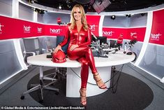 Amanda Holden banned from wearing skimpy jumpsuit for charity skydive Amanda Holden, Britain's Got Talent Judges, Mother Pictures, Strappy High Heels, Sexy Heels, Britain Got Talent, Red Jumpsuit, Poses For Photos