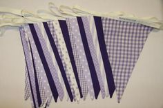 Lilac and Purple Wedding Bunting for hire, from per metre for a 4 day hire period, handmade high quality fabric bunting. Wedding Bunting, Wedding Reception Decorations, Wedding Ideas, Fabric Bunting, Purple Wedding, Valance Curtains, Lilac, Colours, Period