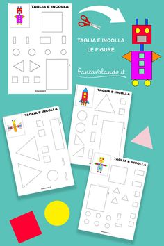 Map, Teaching, Geometric Form, Activities, Shapes, School, Lab, Spring, Crafts