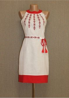 "Сарафан ""Чарівна стежка"" Cute Dresses, Beautiful Dresses, Casual Dresses, Fashion Dresses, Embroidery Fashion, Embroidery Dress, Folk Fashion, Womens Fashion, Mexican Dresses"