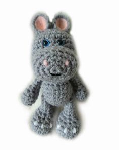Crochet Little Bigfoot Hippo Free  Pattern .good site