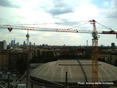 Arata Isozaki and Andrea Maffei. #Citylife Tower, #Milan, Italy, (2005/2011) - Scenic view of the #Skyline from the construction site
