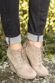 Rise To The Occasion Booties-Taupe Definitely my favorite out of all their boots. I have these <3
