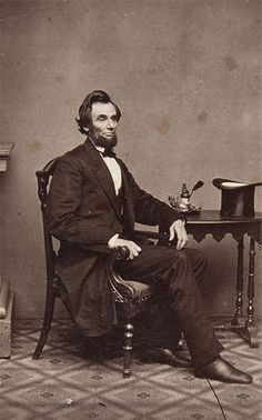 Photograph of President-elect Lincoln taken by Alexander Gardner at Mathew Brady's gallery in Washington on February 24, 1861