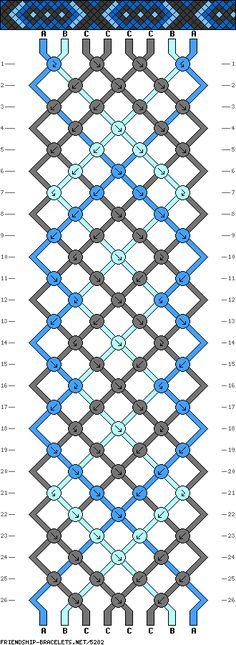 8 strings 26 rows 3 colors