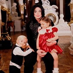 With Prince and Paris when they were little........