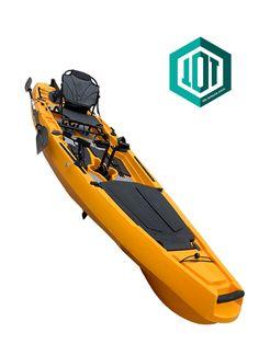 Fishing pedal fin drive kayak from Leisure kayaks Pedal Kayak, Kayaks, Orange Color, Skateboard, Boats, Fishing, Skateboarding, Skate Board, Ships