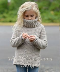 Listing for CROCHET PATTERN ONLY of The Portlynn Pullover.  This sweater is handcrafted and designed with comfort and warmth in mind…Perfect accessory for all seasons.  All patterns are american english written instructions in standard US standard terms.  **Worsted weight yarn used.  12/18m (sweater 20.25 inch chest circumference) 2/3 (sweater 22.5 inch chest circumference) 4/5 (sweater 26.5 inch chest circumference) 6/7 (sweater 28.75 inch chest circumference) 8/10 (sweater 31 inch chest…