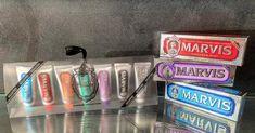 Μοναδικές οδοντόκρεμες Marvis σε φοβερές γεύσεις 😁 #marvis #toothpaste #marvistoothpaste #smile #travelsize #rosinaperfumery #perfume #nicheperfume #nicheperfumery #nicheperfumerygreece #nicheperfumeryathens #giannitsopoulou6 #glyfada #athens #athensriviera #greece Perfume, Candles, Stuff To Buy, Candy, Candle Sticks, Fragrance, Candle