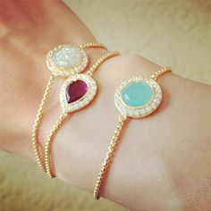 Rubelite and Moonstones bracelets.this would look so good on my wrist. Jewelry Box, Jewelry Accessories, Fashion Accessories, Fashion Jewelry, Jewlery, Cheap Jewelry, Jewelry Ideas, Gold Jewelry, Jewelry Rings