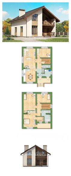 Ev villa projesi 170-002-R | House Expert