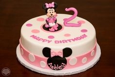 Minnie Mouse birthday cake for two year old