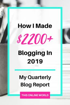 Making money with a blog is hard work, but it is possible! In my latest blogging income report, I break down exactly how I generated $2200+ in Q2 of 2019. I cover affiliate programs, advertising, SEO tips and more in the recap, so don't miss out! #blogging #sidehustle