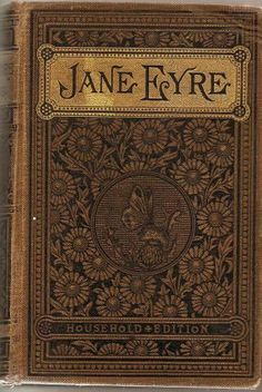 """Vintage Book Cover Print """"Jane Eyre"""" by Charlotte Bronte published circa 1900 books Jane Eyre Book Cover Print - Jane Eyre Poster Charlotte Bronte - Jane Eyre Print - Literary Print - Book Cover Art - Library Decor Charlotte Bronte, Emily Bronte, Vintage Book Covers, Vintage Books, Vintage Art, Old Books, Antique Books, Jane Eyre Book, Jane Austen"""