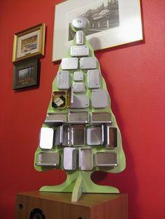 Altoid tin advent calendar. Such a great idea!