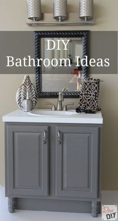 Bathroom vanity makeover easy diy home paint project - How to redo bathroom cabinets for cheap ...