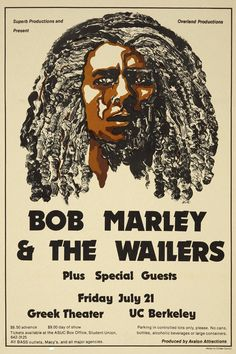 1978 Bob Marley & The Wailers Concert Poster                                                                                                                                                                                 More