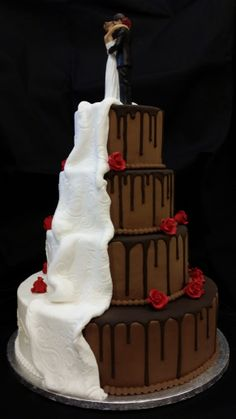 wedding cakes richmond hill half and half wedding cake sensational cakes by yaya 25368