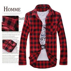 4 Colors Spring Men Long Sleeve Plaid Shirt Casual Shirt Tops - US$8.88
