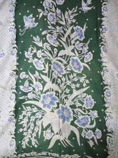Green blue sarong 1940-1950,pekalongan.