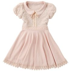 Cute, sweet gyaru: Light pink dress.