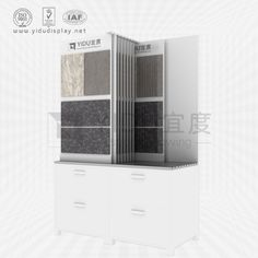 The color and size of its exterior can be used to determine the size and color style of the display cabinet according to the style and color of the product. Its biggest role is to better display business and highlight the characteristics of products. Tall Cabinet Storage, Locker Storage, Tile Showroom, Decorative Tile, Wooden Flooring, Porcelain Tile, Display Boards, Tiles, Shelves