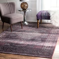 Shop for nuLOOM Oriental Vintage Viscose Persian Amethyst Area Rug (5'2 x 8'). Get free shipping at Overstock.com - Your Online Home Decor Outlet Store! Get 5% in rewards with Club O!